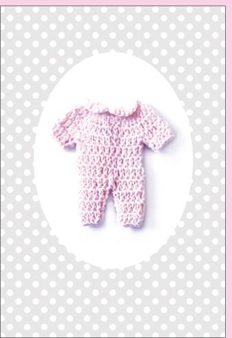 Umschlagk. rosa Babystrampler