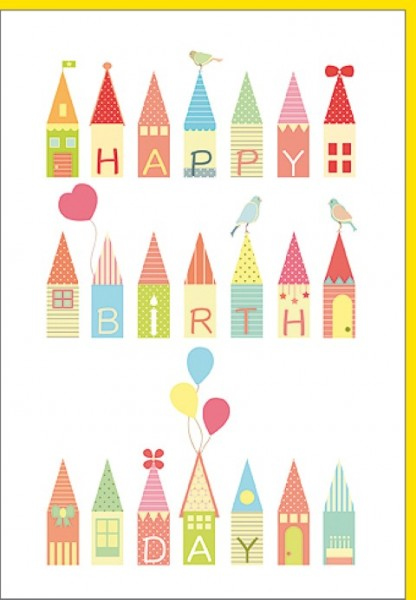 Umschlagk. Birdy-Happy Birthday Haus