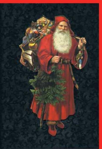 Umschlagk. Santa & Tree