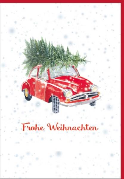 Umschlagk. Frohe Weihnachten Auto