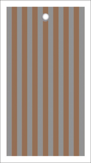 Tags Streifen grau kupfer