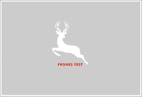 Umschlagk. Frohes Fest Hirsch