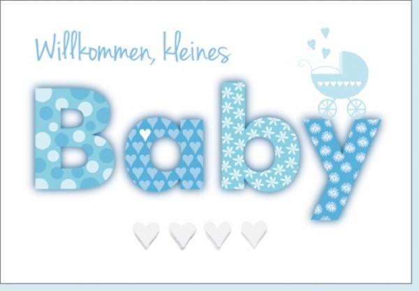 Umschlagk. Willkommen Baby blau