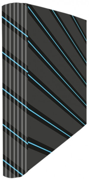 Ringmappe A4 Grey Blue Stripes