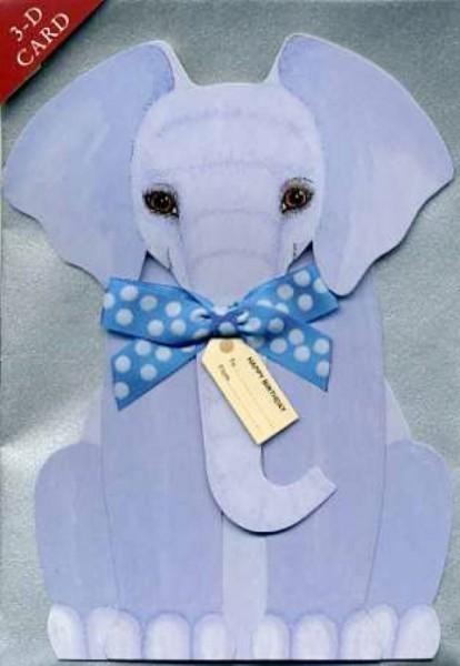 Umschlagk. 3-D Elefant