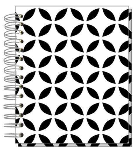 Buch 12x15 Black/White Ornaments