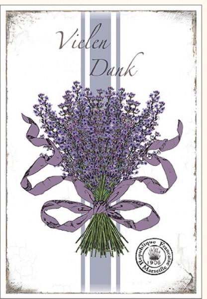 Umschlagk. Lavendel Vielen Dank