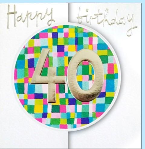 Umschlagk. Happy Birthday 40
