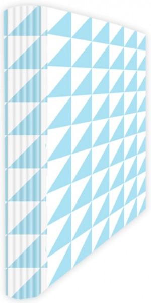Ringmappe A4 Dreiecke hellblau