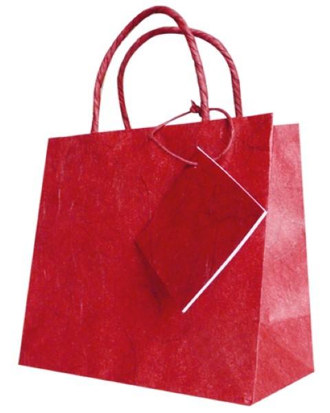 Silkpaper Bag rot 12x12x6cm
