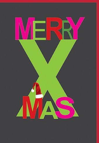Umschlagk. Merry X-Mas schwarz