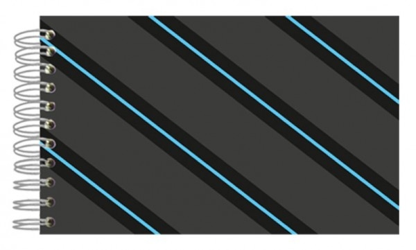 Fotoalbum 13x18 Grey Blue Stripes