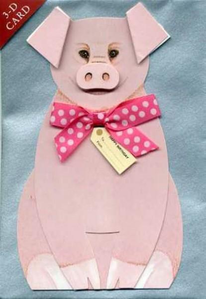 Umschlagk. 3-D Schweinchen