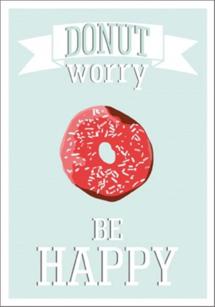 Postk. Donut worry