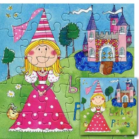 Umschlagk. Puzzle Birthday Princess