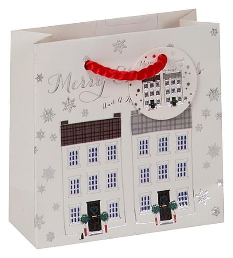 Häuserreihe Weihnachten Bag small