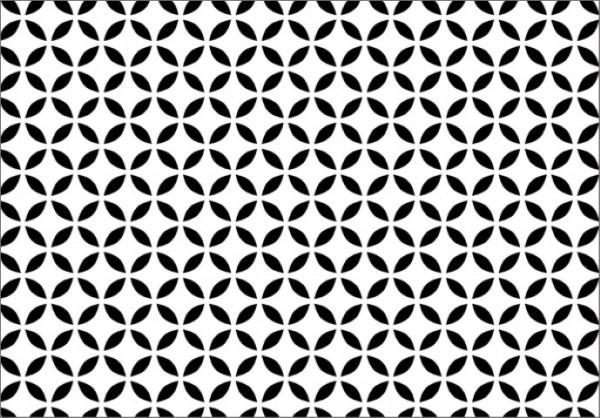 Black White Ornaments 50x70