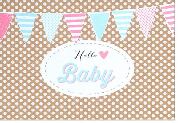 Umschlagk. pp Hallo Baby Girlande