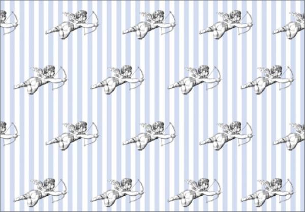 Cupido Streifen blau 50x70