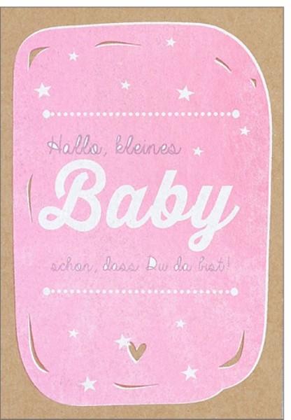Umschlagk. pp Baby Sterne rosa