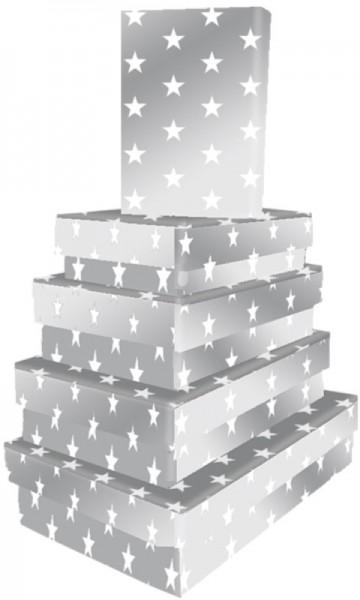 Kart. Recht. Silver Stars 5 tlg.