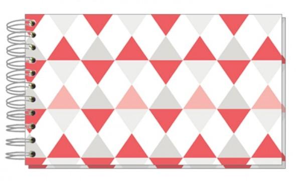 Fotoalbum 13x18 Dreiecke Pastell