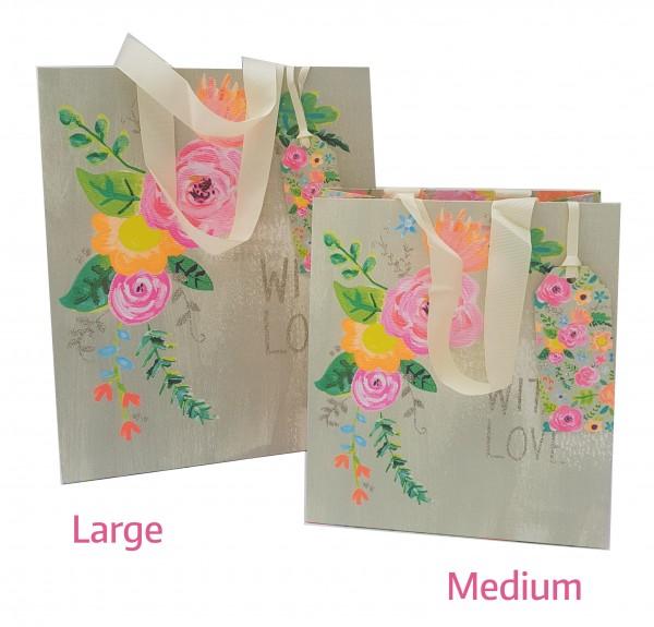With Love Glitzer Bag medium