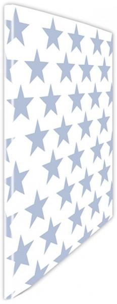 Schnellhefter Sterne hellblau-weiß