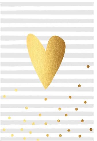 Umschlagk. pc Gold Coeur grau