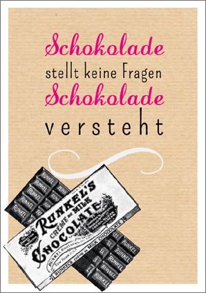 Postk. Vintage Schokolade...