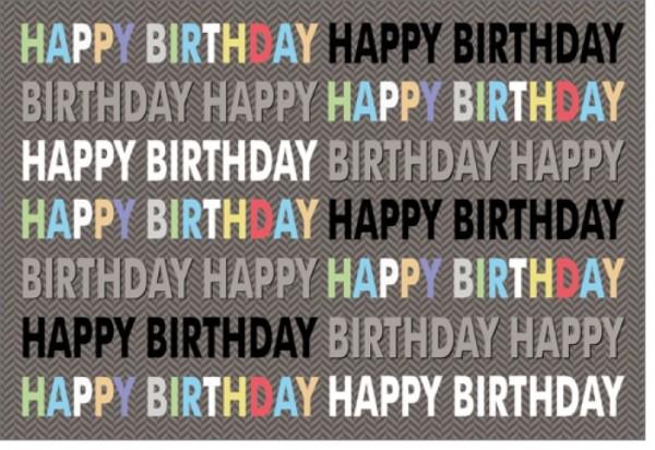 Umschlagk. Happy Birthday Denim