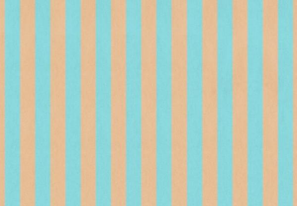 Shabby Streifen Türkis 50x70