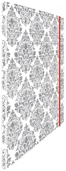 Eckspannmappe silver Tapesty