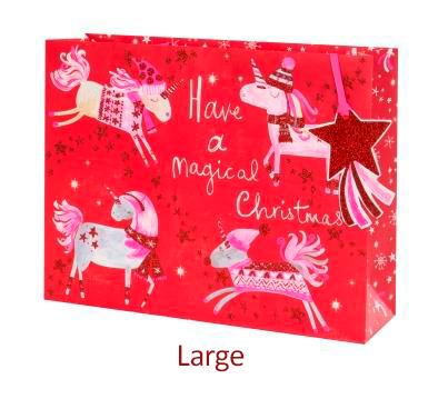 Weihnachts-Einhorn Bag large