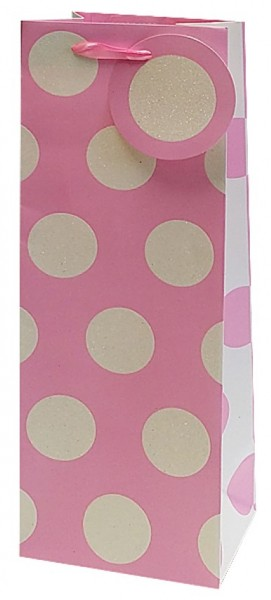 Rosa Punkte Bag small (Flasche)