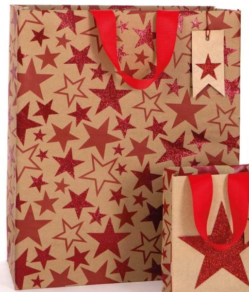 Sterne Kraft Glitzer Bag large