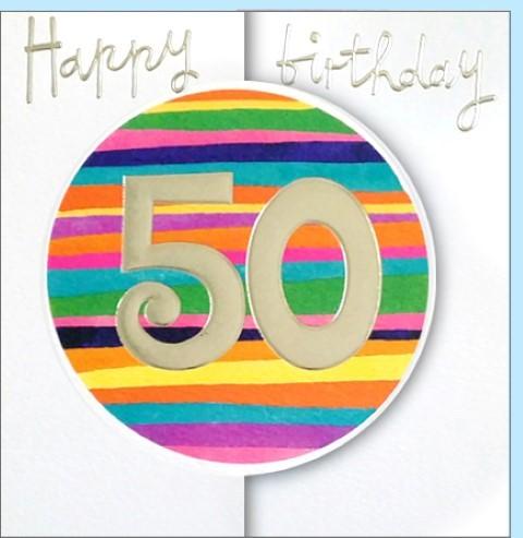 Umschlagk. Happy Birthday 50