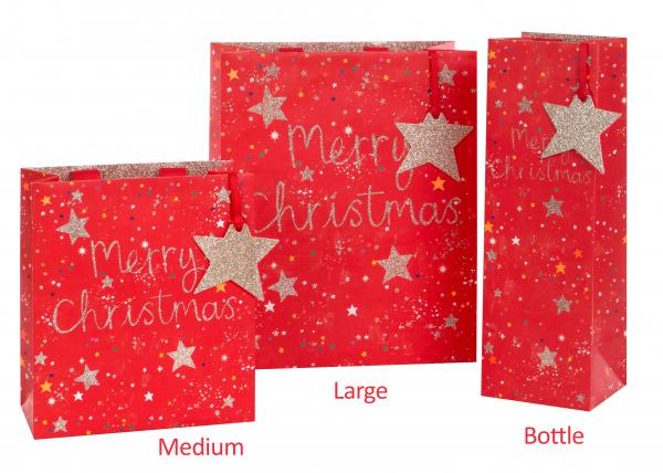 Sternchen mit Glitzer Bag medium