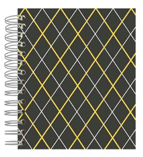 Buch 12x15 Grey Orange Squares