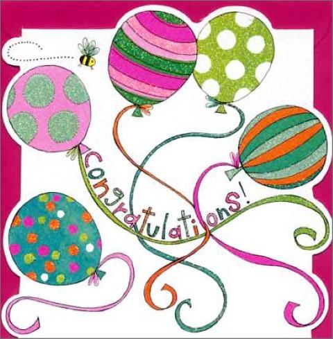 Umschlagk. Congratulations Balloons