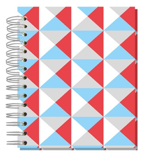 Buch A5 Bunte Dreiecke