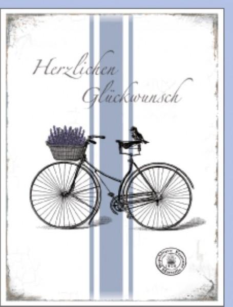 Minik. Fahrrad Herzlichen Glückwunsch