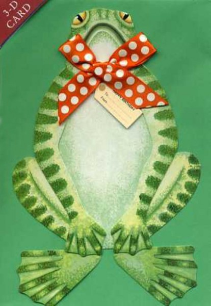 Umschlagk. 3-D Frosch