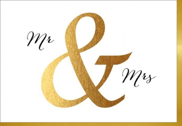 Umschlagk. Mr & Mrs Gold