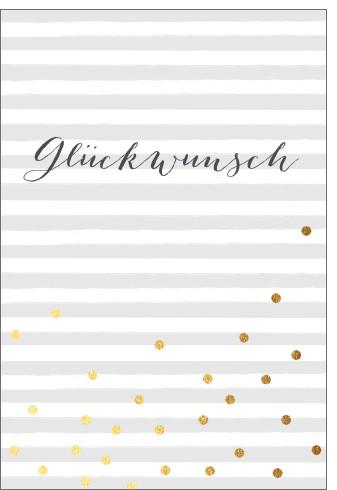 Umschlagk. pc Glückw. Golden Dots