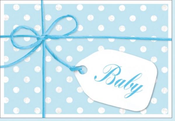 Umschlagk.Schleife Baby blau
