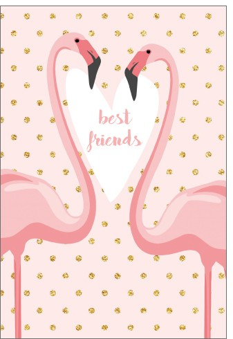 Umschlagk. pc best friends Flamingos