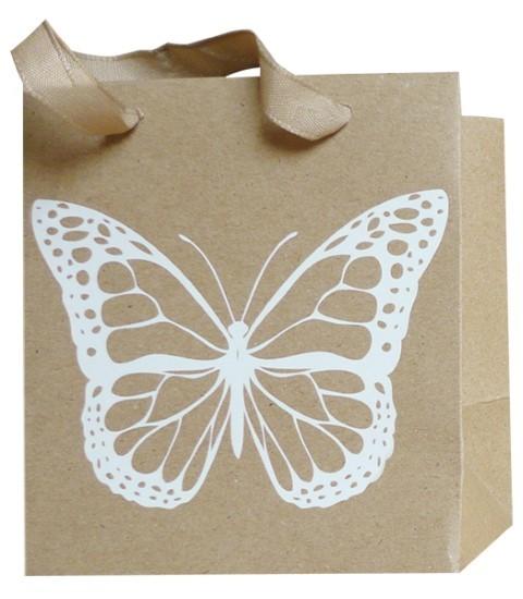 Schmetterling Bag weiß 12x12x8cm