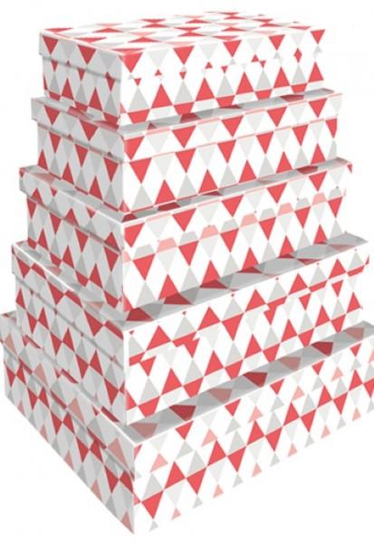 Rechteck Dreiecke Pastell 5tlg. groß