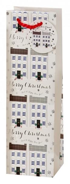 Häuserreihe Weihnachten Bag Flasche (Bottle)